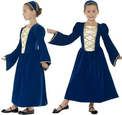 £13.99 • Buy Childs Girls Fancy Dress Tudor Princess Girl Costume Childrens Outfit By Smiffys