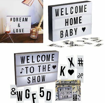 Illuminated Plastic Display Board With 84 Letters And Symbols Display Messages • 16.99£