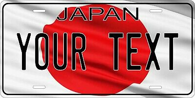 Japan Flag License Plate Personalized Car Auto Bike Motorcycle Custom Tag • 8.55£
