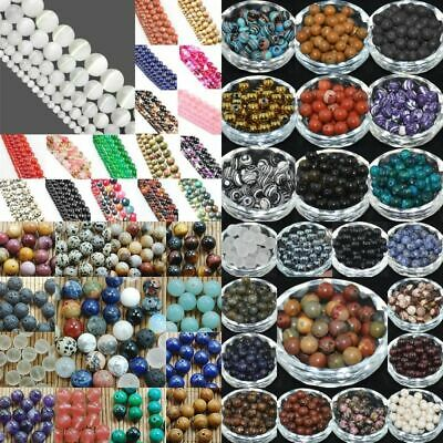 $ CDN2.63 • Buy Natural Gemstone Round Spacer Loose Beads 4mm 6mm 8mm 10mm 12mm Assorted Stones