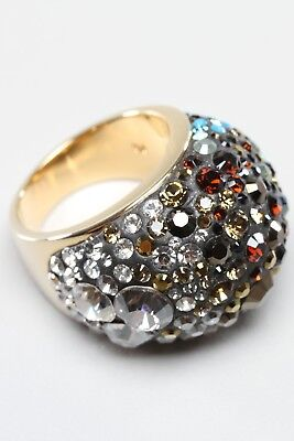 1c71bec29 Swarovski Statement Chic Mocca Glamour Crystal Cluster Ring New Size 52 •  165.84$