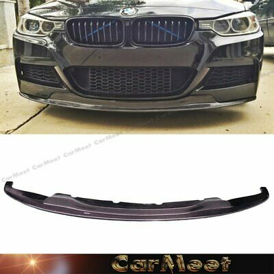 AU586.97 • Buy Carbon Fiber Front Lip AK2 Look For 12-16 F30 F31 3SERIES Factory M-Sport Bumper