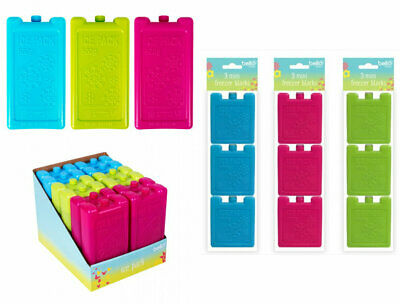 Reusable Travel Ice Freezer Blocks For Picnic Lunch Boxes Cooler Bags • 2.99£
