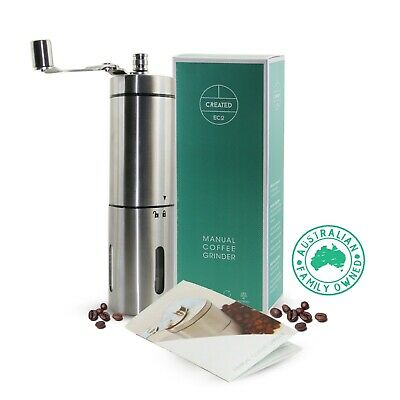 AU37.95 • Buy Manual Coffee Grinder/Mill Ceramic Burrs Stainless Steel For Hand Ground Coffee