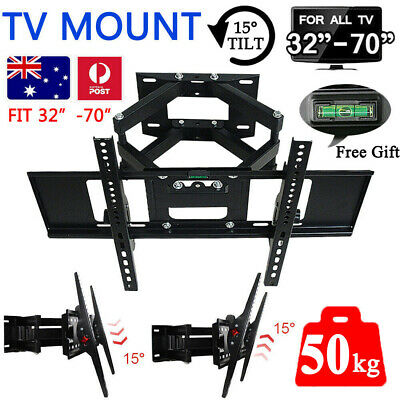 AU42.77 • Buy TV Wall Mount Bracket Full Motion Tilt Swivel Pivot 32 40 43 50 55 60 65 70 Inch