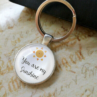 YOU ARE MY SUNSHINE Keyring BFF Birthday Keychain Gifts Presents & Pillow Box • 3.70£