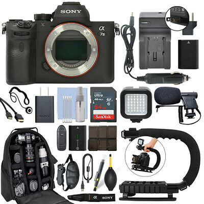 $ CDN2529.36 • Buy Sony Alpha A7 III Mirrorless 24MP Digital Camera Body + 64GB Pro Video Kit