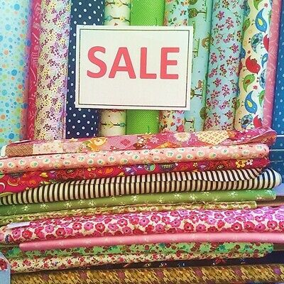 £4.15 • Buy 100% COTTON FABRIC SALE Clearance From £1.99 Vintage Patchwork Dress Christmas