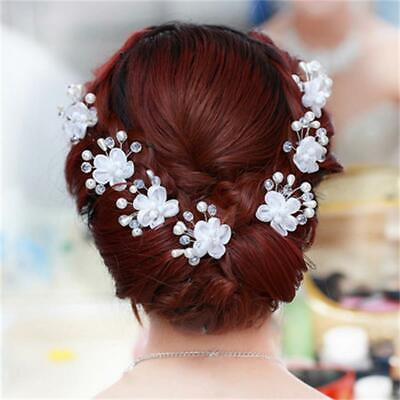$4.49 • Buy Wedding Floral Pearl Hair Clip Bride Head Wear Hairpin Accessories *NEW* IN USA