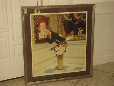 $ CDN1531.07 • Buy NORMAN ROCKWELL  Art Critic  Pencil Signed Lithograph AP Artist's Proof Framed