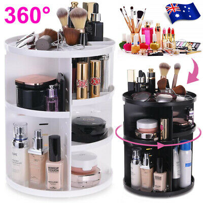 AU18.89 • Buy 360° Rotating Acrylic Makeup Organiser Storage Cosmetics Stand Holder Box Gift