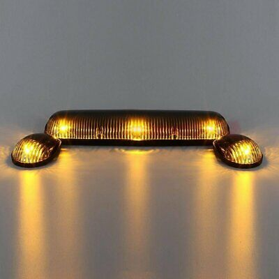 $31.70 • Buy (3) Clear Cab Marker Top Lights W/168 Amber LED For Chevy Silverado/GMC Sierra