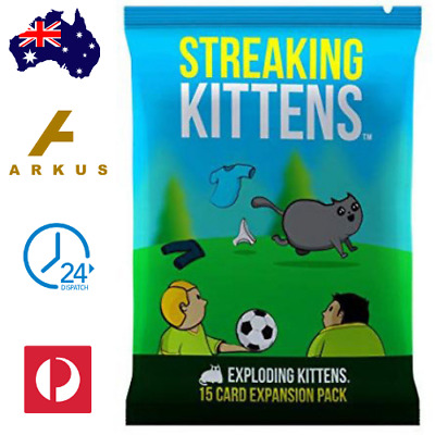 AU14.85 • Buy STREAKING KITTENS: 15 Card Second Expansion Pack EXPLODING KITTENS Kids Game NEW