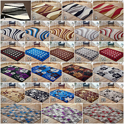 Large Modern Floral New Clearance Geometric Area Cheap Low Cost Rug Sale Runner • 32.84£