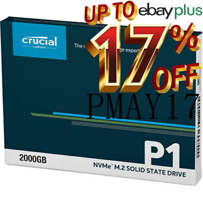 AU129 • Buy Crucial P1 500GB M.2 SSD 1900MB/s 3D NAND NVMe Solid State Drives CT500P1SSD8