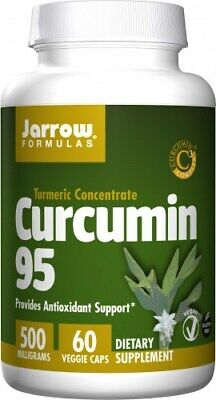 JARROW FORMULAS Curcumin 95, 500mg 60 Veg Caps, Vegan, SHIPPING WORLDWIDE • 32.74£