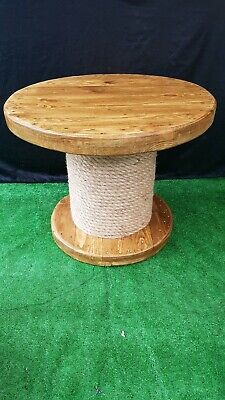 Industrial Cable  Reel Round Wooden Coffee Table  • 105£
