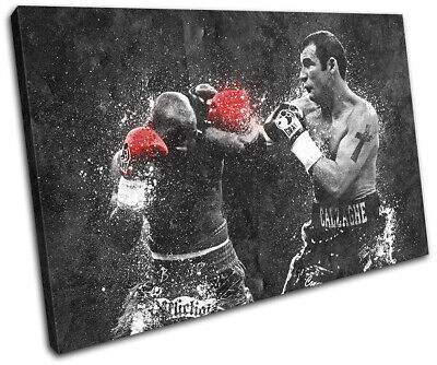 Joe Calzaghe Boxing Grunge Sports SINGLE CANVAS WALL ART Picture Print • 19.99£
