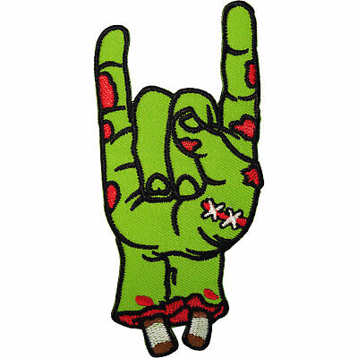 Zombie Hand Patch Iron Sew On Clothes Bag Embroidery Applique Embroidered Badge • 2.79£