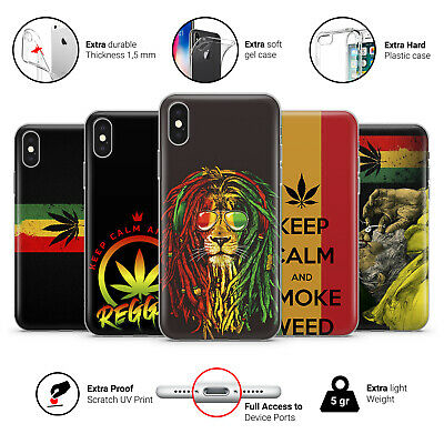 Rasta Reggae Bob Marley Smoke Weed Marihuana Phone Case Cover For IPhone • 7.49£