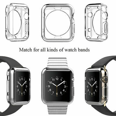 $ CDN1.23 • Buy Protector TPU Rubber Bumper IWatch Case Cover For Apple Watch Series 4 NEW AW