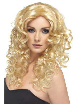 AU27.95 • Buy Glamour Wig Blonde Cool 1990'S Long Curly Fancy Dress Costume Accessory