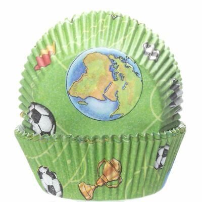 £3.59 • Buy REDUCED: Football Cupcake Cases X60 Baking Muffin Bake Off World Cup