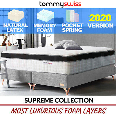 AU329 • Buy King Queen Double Mattress Pocket Spring Latex With Memory Foam Chiropractic Bed