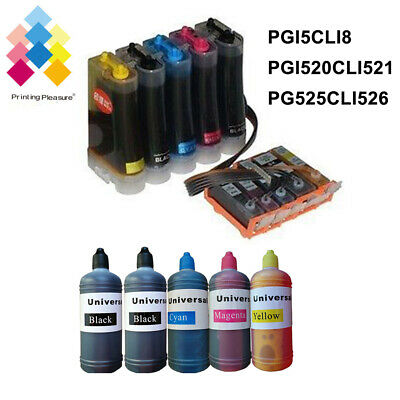 £3.99 • Buy LOT CISS Refillable Ink Cartridge Non-oem For Canon MG5250 MP640 IP4500 MP510