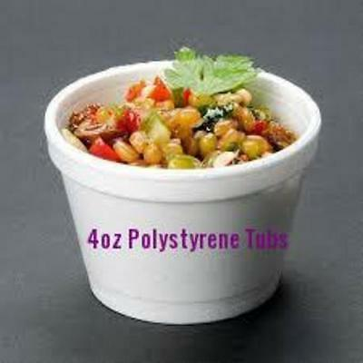 £6.48 • Buy GSL - 50 X 4oz POLYSTYRENE FOAM POTS TUBS CUPS FOOD DRINK CONTAINERS ONLY