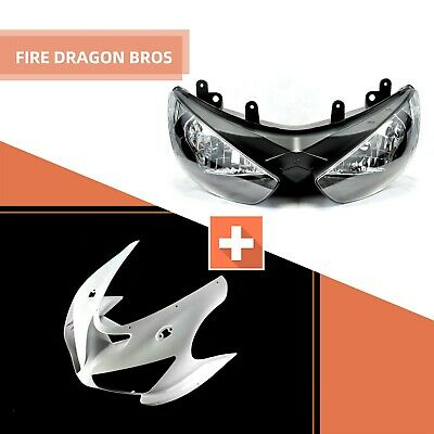 $199.01 • Buy Unpainted Upper Fairing Nose + Headlight For Kawasaki 2005 2006 ZX-6R ZX6R ZX636