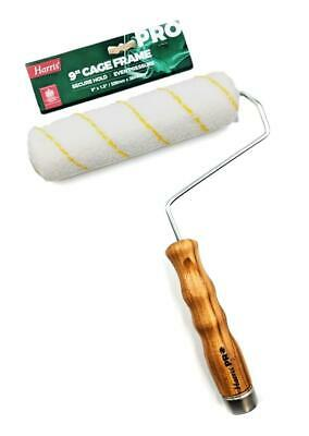 Harris Pro Quality Wooden Paint Roller Frame 9  Emulsion Sleeve Extension Fit • 6.95£