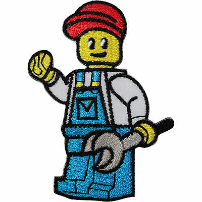 Toy LEGO Figure Patch Iron Sew On T Shirt Jacket Jeans Bag Hat Embroidered Badge • 2.49£