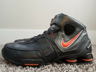 promo code 811e2 20b9e RARE🔥 Nike Shox Elite Black Orange Basketball Sneakers 314184-081 Men s  Size 11 •