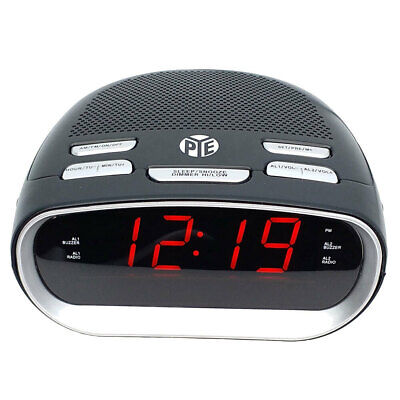 AU24 • Buy PYE AM/FM Alarm Clock Radio W/Snooze/Red LED Digital Display For Bed Side Table