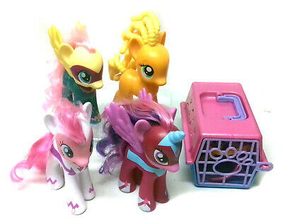 MY LITTLE PONY MLP 4 Large 6  Ponies & Box Of Accessories Girls Toys Horses • 27.99£