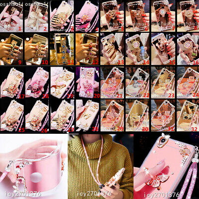 3D Mirror Bling Diamonds Ring Kickstand Phone Case For Iphone 11 Pro 7 8 + X MAX • 7.55£