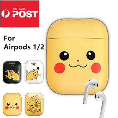 AU9.99 • Buy Pikachu Pokemon Shockproof For Apple Airpods 1 2 Case Cover Skin Silicone Holder