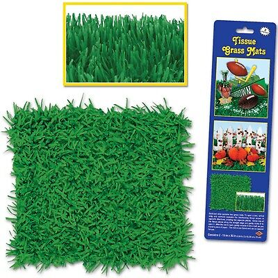 AU10.99 • Buy Green Tissue Grass Mat Suit Farm Barn Soccer Tractor Video Game Party