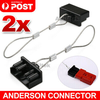 AU6.25 • Buy 2 X Dust Cap Black Anderson Plug Cover Style Connectors 50AMP Battery Caravan
