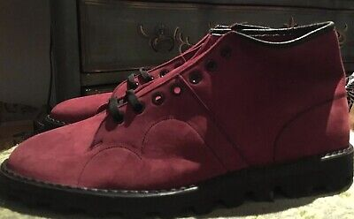 $300 • Buy Vintage Rare 80's-90's Punk Grunge Nana Red Leather Suede Monkey Boots Size 12