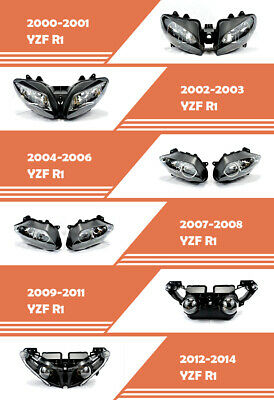 $49 • Buy Assembly Front Headlight HeadLamp Fit For Yamaha 2000-2014 12 YZF R1 YZFR1 R1000