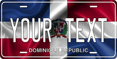 Dominican Rep Flag License Plate Personalized Custom Car Bike Motorcycle Moped  • 12.09£