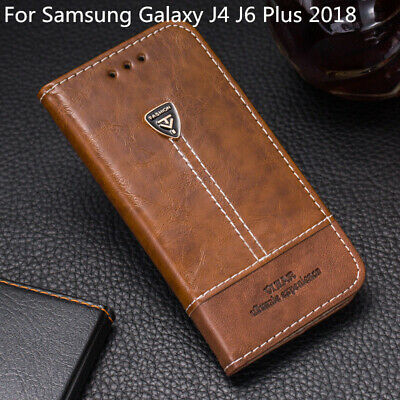 AU10.78 • Buy Case For Samsung Galaxy J4 J6 Plus 2018 PU Leather Flip Stand Wallet Phone Cover