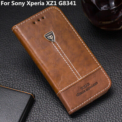 AU10.68 • Buy For Sony Xperia XZ1 G8341 Flip Leather Back Cover Card Slot Stand Wallet Case