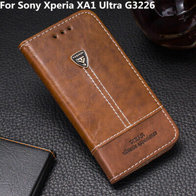 AU10.82 • Buy For Sony Xperia XA1 Ultra G3226 Flip Leather Back Cover Slot Stand Wallet Case