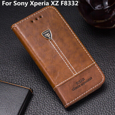 AU10.72 • Buy For Sony Xperia XZ F8332 Flip Leather Shockproof Cover Slot Stand Wallet Case