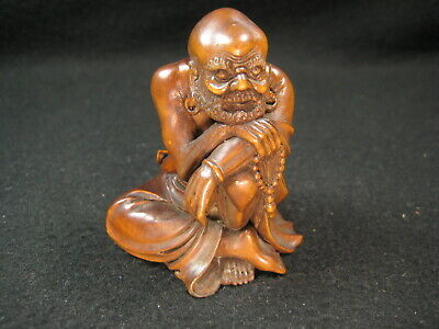 Antique chinese boxwood carving of an immortal th c or
