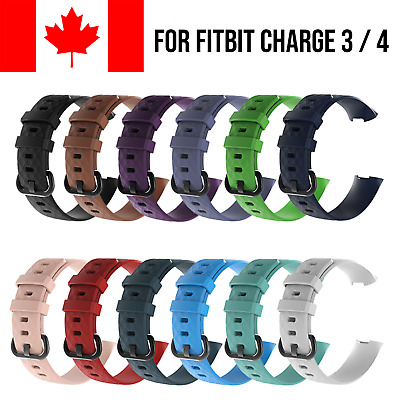 $ CDN5.95 • Buy For Fitbit Charge 3 4 Band Replacement Wrist Strap Silicone Sport Watch Bands
