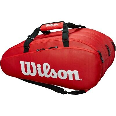 Wilson Tour 3 Compartment Racket Bag Red • 59.99£